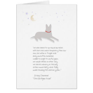 Dog Sympathy - German Shepherd - with Poem Card