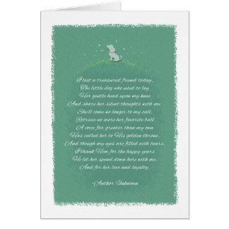 Dog Sympathy - Lost A Friend Poem (Female) Dog Card