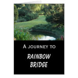Dog sympathy - Rainbow Bridge Greeting Card