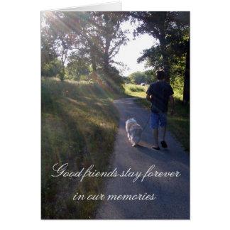 Dog Sympathy Rainbow Bridge Poem Card Cards