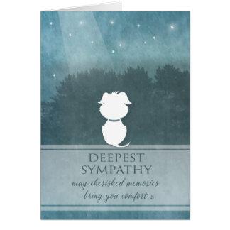 Dog Sympathy Teal Cherished Memories Bring Comfort Card