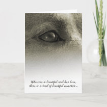 Dog Sympathy Wherever a Beautiful Soul has Been Card