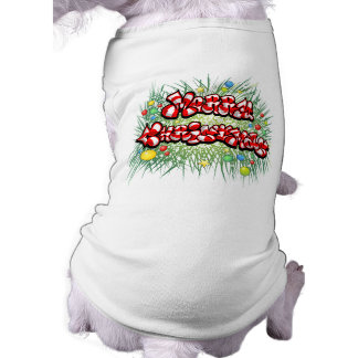 Dog T Shirt - Christmas - Candy Cane Lettering