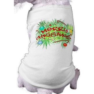 Dog T Shirt - Christmas - Merry Christmas