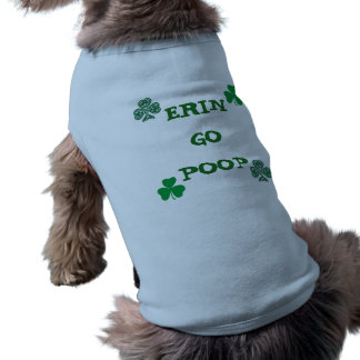 DOG T-SHIRT COAT ERIN GO POOP CUTE BLUE & GREEN