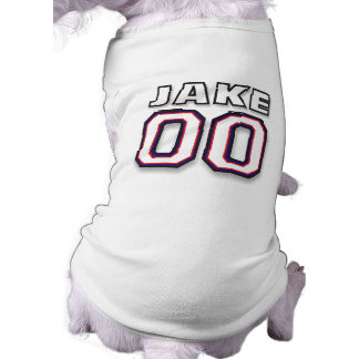 Dog T-shirt - NAME JAKE - Sports Jersey 00