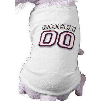 Dog T-Shirt  - NAME ROCKY - Sports Jersey 00