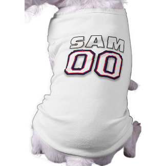 Dog T-shirt - NAME SAM - 00 Sport Jersey