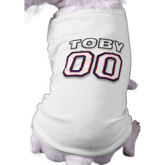 Dog T-Shirt - NAME TOBY - 00 Sports Jersey