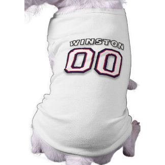 Dog T-Shirt - NAME WINSTON - 00 Sports Jersey