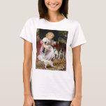Dog T-Shirt:  Tea Time for Fox Terrier Puppies T-Shirt