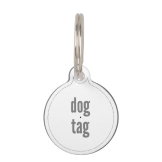 Dog Tag Filled Template