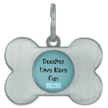 """Beach Themed Dog Tag for Doodles """"Doodles Have More Fun"""""""