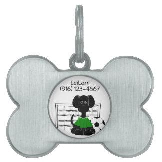 Dog Tag Soccer Dog Pet ID Tag