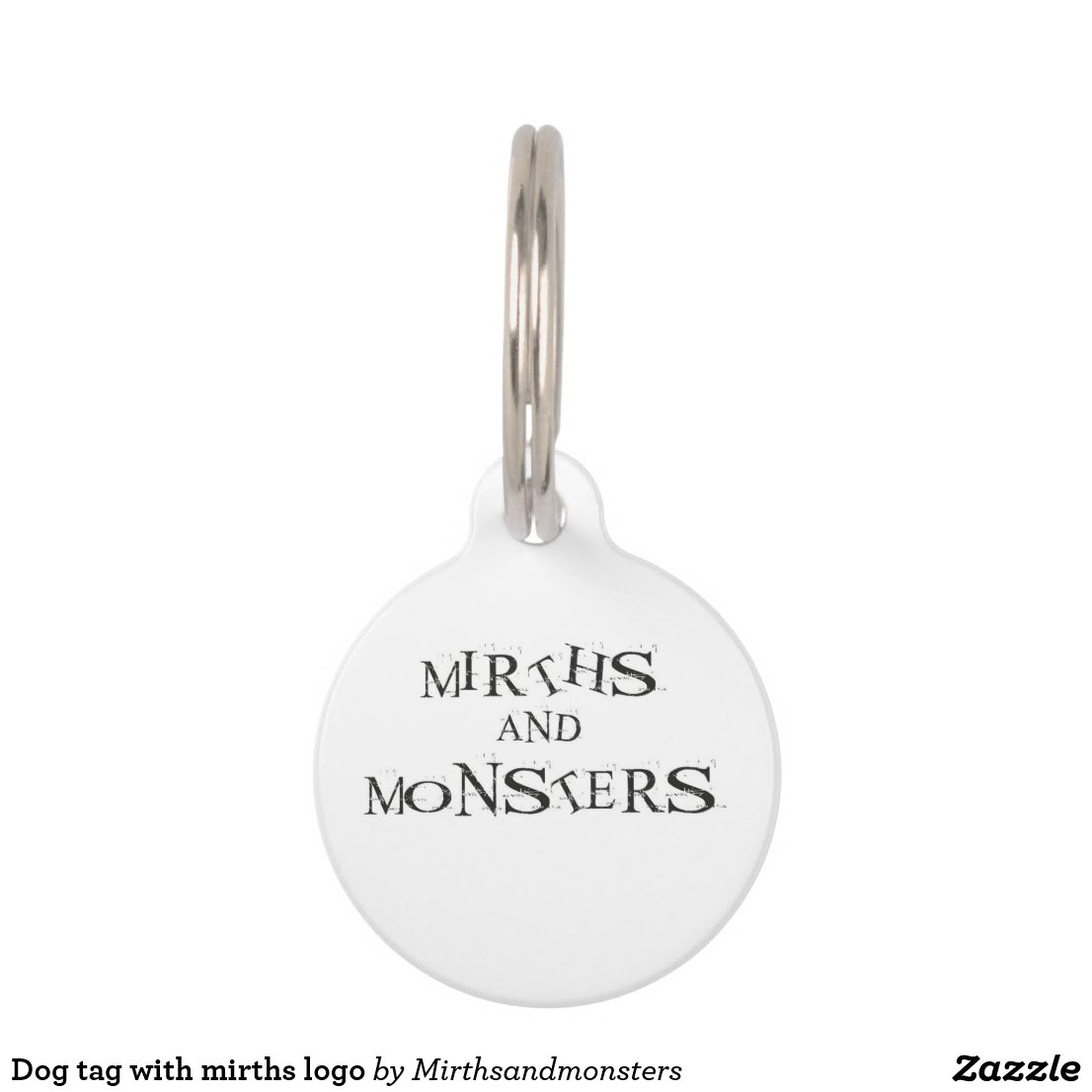 Dog tag with mirths logo