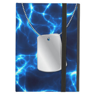 Dog Tags and Blue Lightning iPad Air Cover