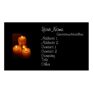 Dog Tags and Candles Business Cards