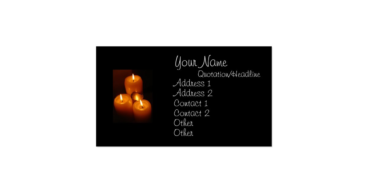 Dog tags and candles military business cards zazzle for Dog tag business cards