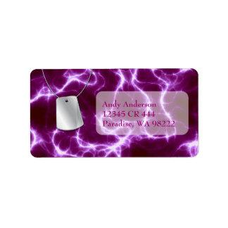 Dog Tags and Purple Lightning