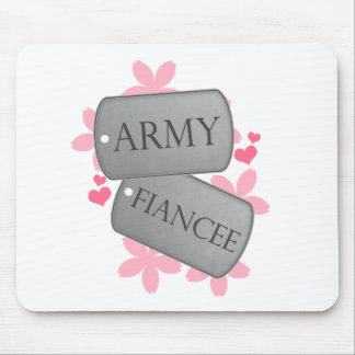 Dog Tags - Army Fiancee Mouse Pad