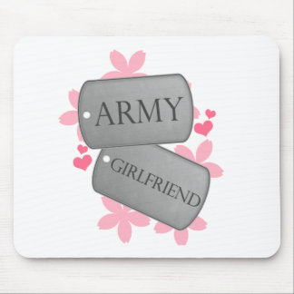 Dog Tags - Army Girlfriend Mouse Pad