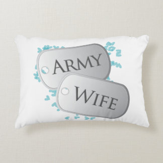 Dog Tags Army Wife Accent Pillow