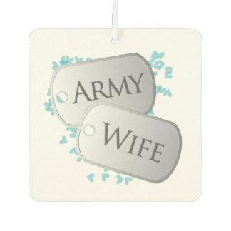 Dog Tags Army Wife Air Freshener