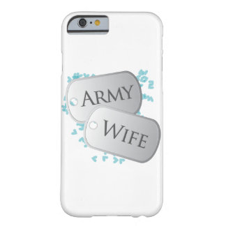Dog Tags Army Wife Barely There iPhone 6 Case