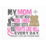 Dog Tags Breast Cancer Mom Postcard