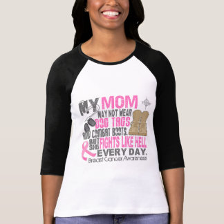 Dog Tags Breast Cancer Mom T-Shirt