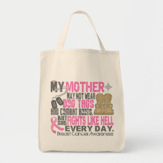 Dog Tags Breast Cancer Mother Canvas Bag