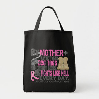 Dog Tags Breast Cancer Mother Bag