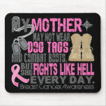 Dog Tags Breast Cancer Mother Mouse Pad