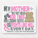 Dog Tags Breast Cancer Mother Mousepads