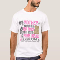 Dog Tags Breast Cancer Mother T-Shirt