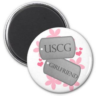 Dog Tags - USCG Girlfriend Magnet