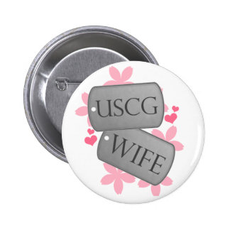 Dog Tags - USCG WIFE Buttons