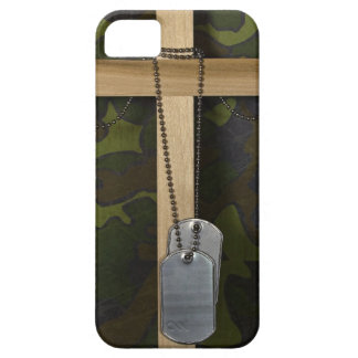 Dog tags with Cross iPhone 5 Case