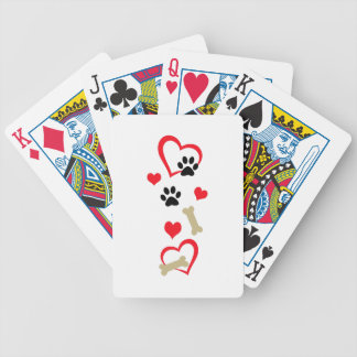 DOG THEME VERTICAL BICYCLE PLAYING CARDS