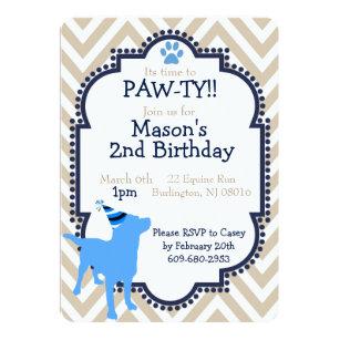 Dog themed invitations zazzle dog themed birthday party invitation filmwisefo