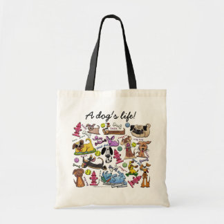 Dog Themed Collage Tote Bag