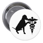 DOG THERAPY HOSPITAL 3 INCH ROUND BUTTON