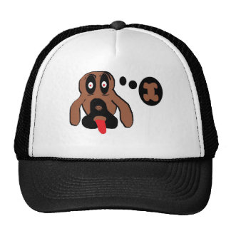 Dog thinking bone mesh hats