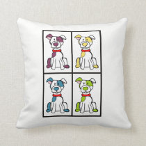 Dog Throw Pillow  - Bully Breed