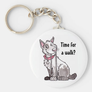 "Dog ""Time for a Walk"" Keychain"