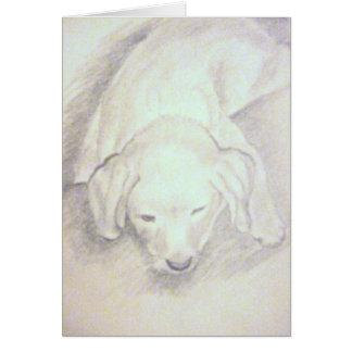 dog tired card
