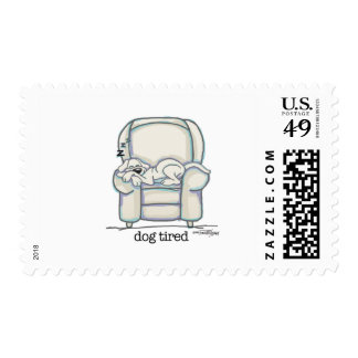 Dog Tired card Stamp