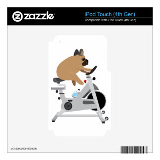 Dog Tired Decals For iPod Touch 4G