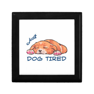 Dog Tired Jewelry Box