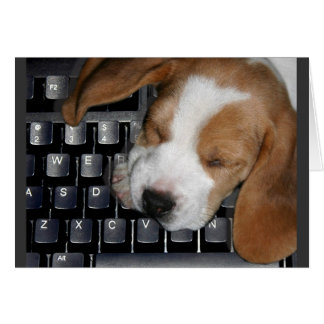 'Dog Tired' Notecard Greeting Card